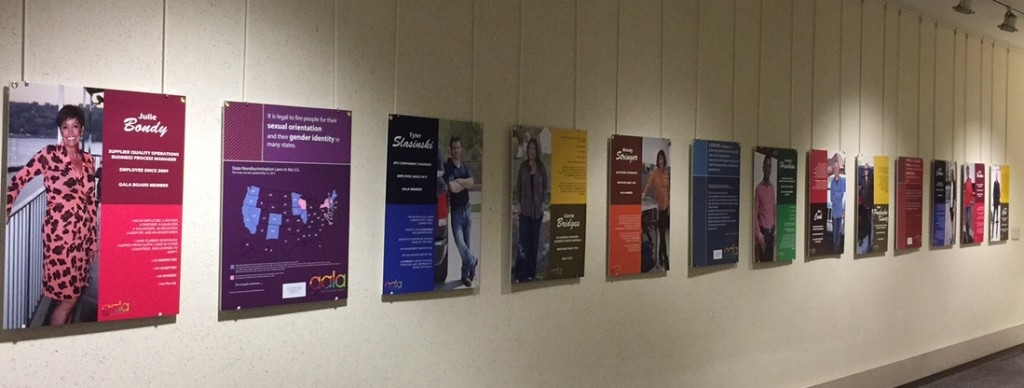 The second Faces of GALA exhibit has grown to 26 boards, and two locations.