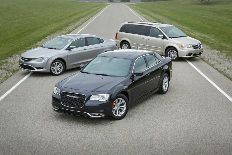2016 Chrysler 300, 200 and Town & Country (front to back)
