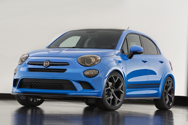 The Fiat 500X Chicane is among the Mopar-modified vehicles showc