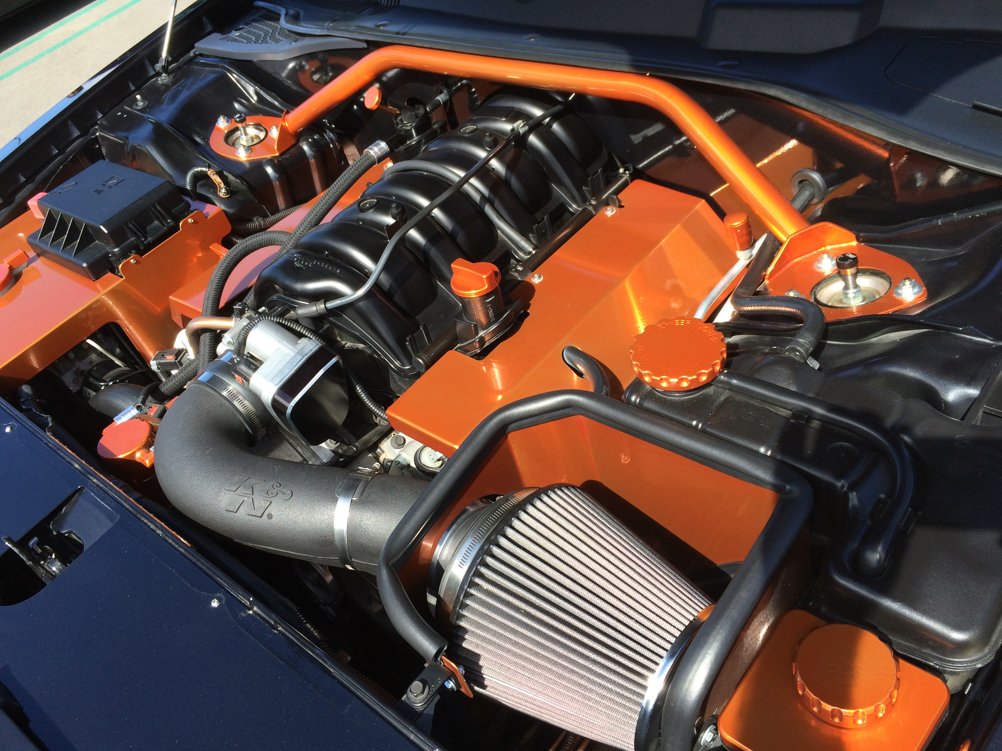 """Ron Rodriguez said he """"dressed up"""" his Chrysler 300C engine."""