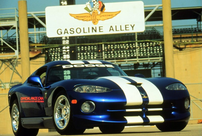 1996 Dodge Viper GTS. Official pace car of the 1996 Indianapolis 500.