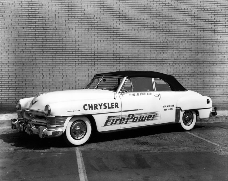 1951 Chrysler New Yorker. Official pace car of the 1951 Indianapolis 500.