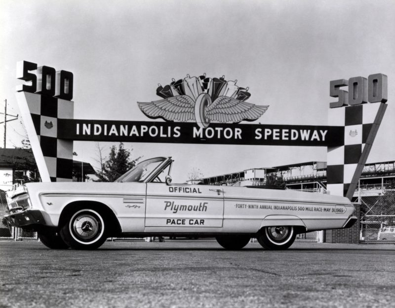 1965 Plymouth Fury. Official pace car of the 1965 Indianapolis 500.
