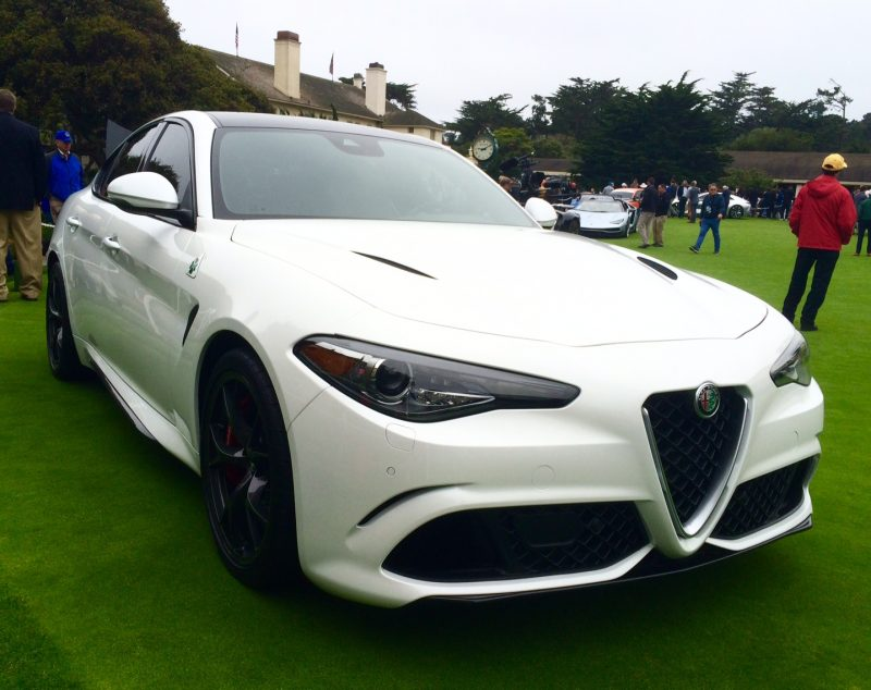 2017 Alfa Romeo Giulia on display at the Pebble Beach Concours d'Elegance.