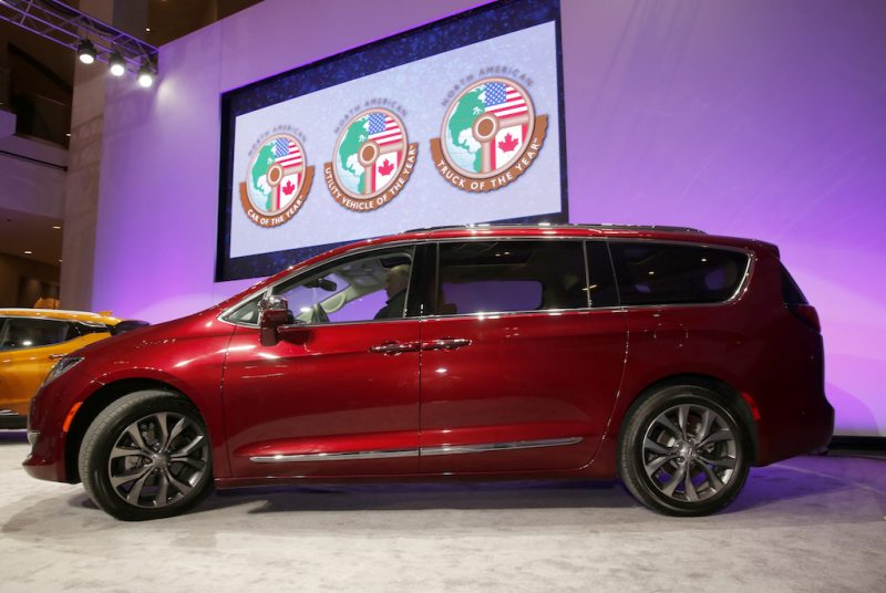 The Chrysler Pacifica minivan was named North American Utility Vehicle of the year at the North American International Auto Show.