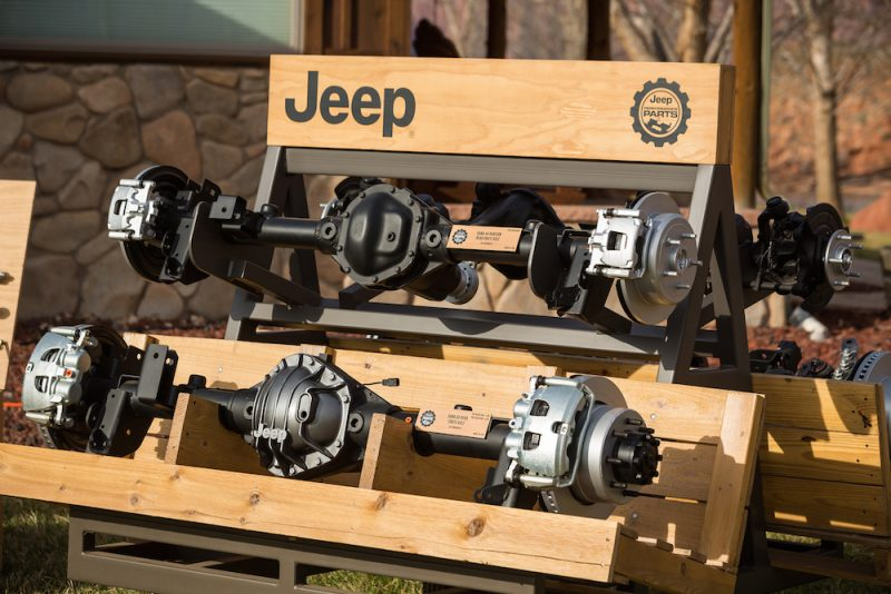 Jeep® Performance Parts on display at the 2016 Jeep Media Event in Moab, Utah.